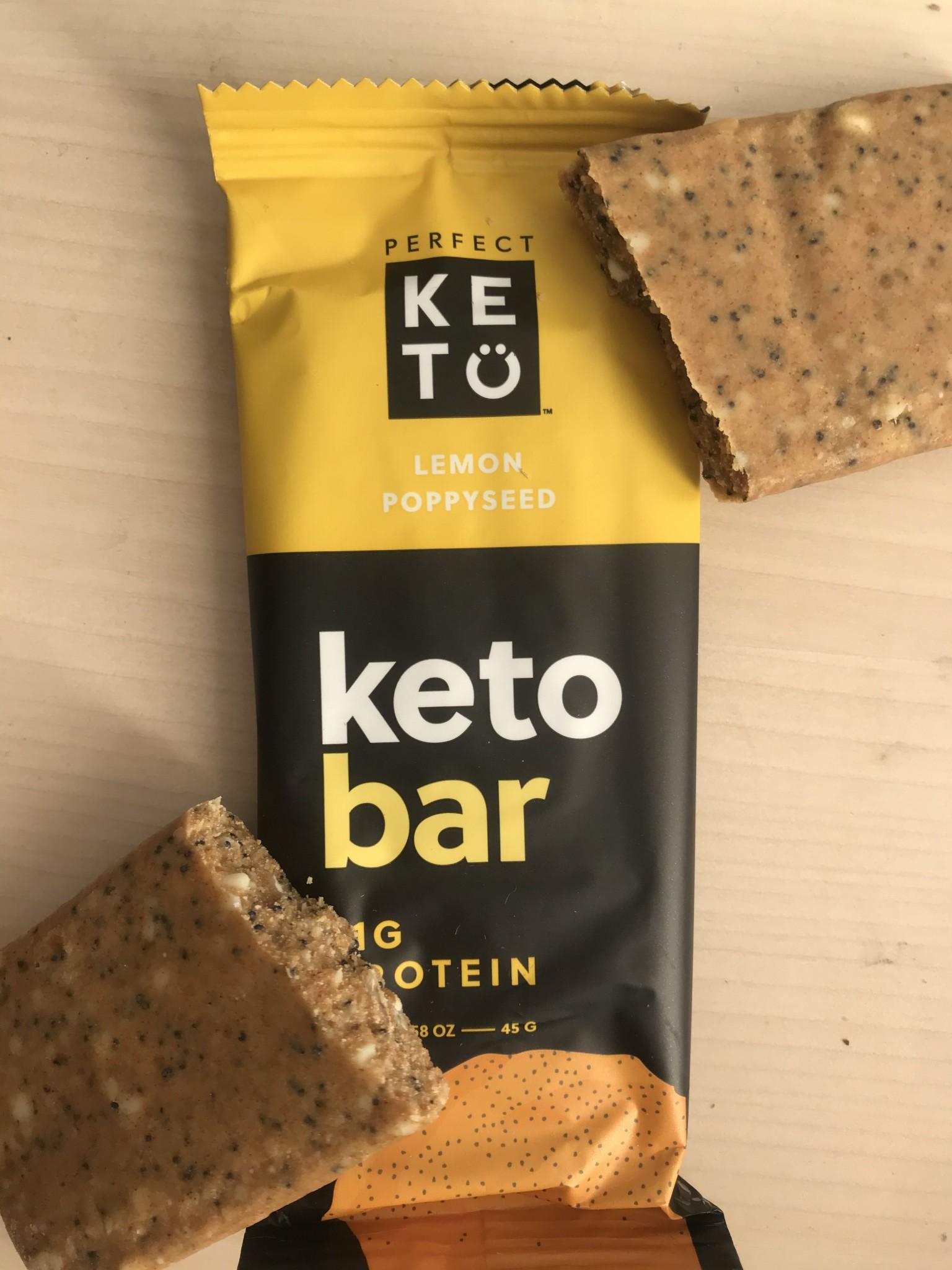 barre cétogène perfect keto citron pavot